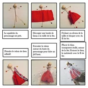 fabrication d'une fée en tissu