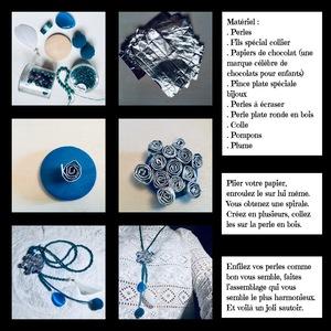 Créer un collier spirale avec des papiers de chocolats
