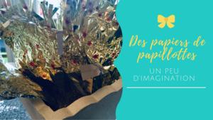 Fabrication de bijoux avec les papiers de chocolats