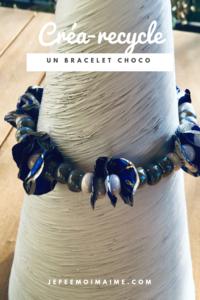 Bracelet avec des papiers de chocolats