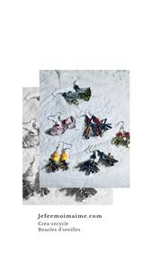 Création de boucles d'oreilles avec des papillotes