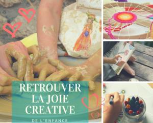 La création nous rend heureux, poterie, le tissage, le dessin