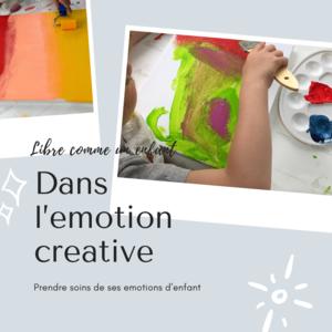 Libre comme un enfant dans l'émotion Créative