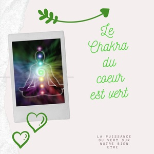 Vert le chakra du cœur